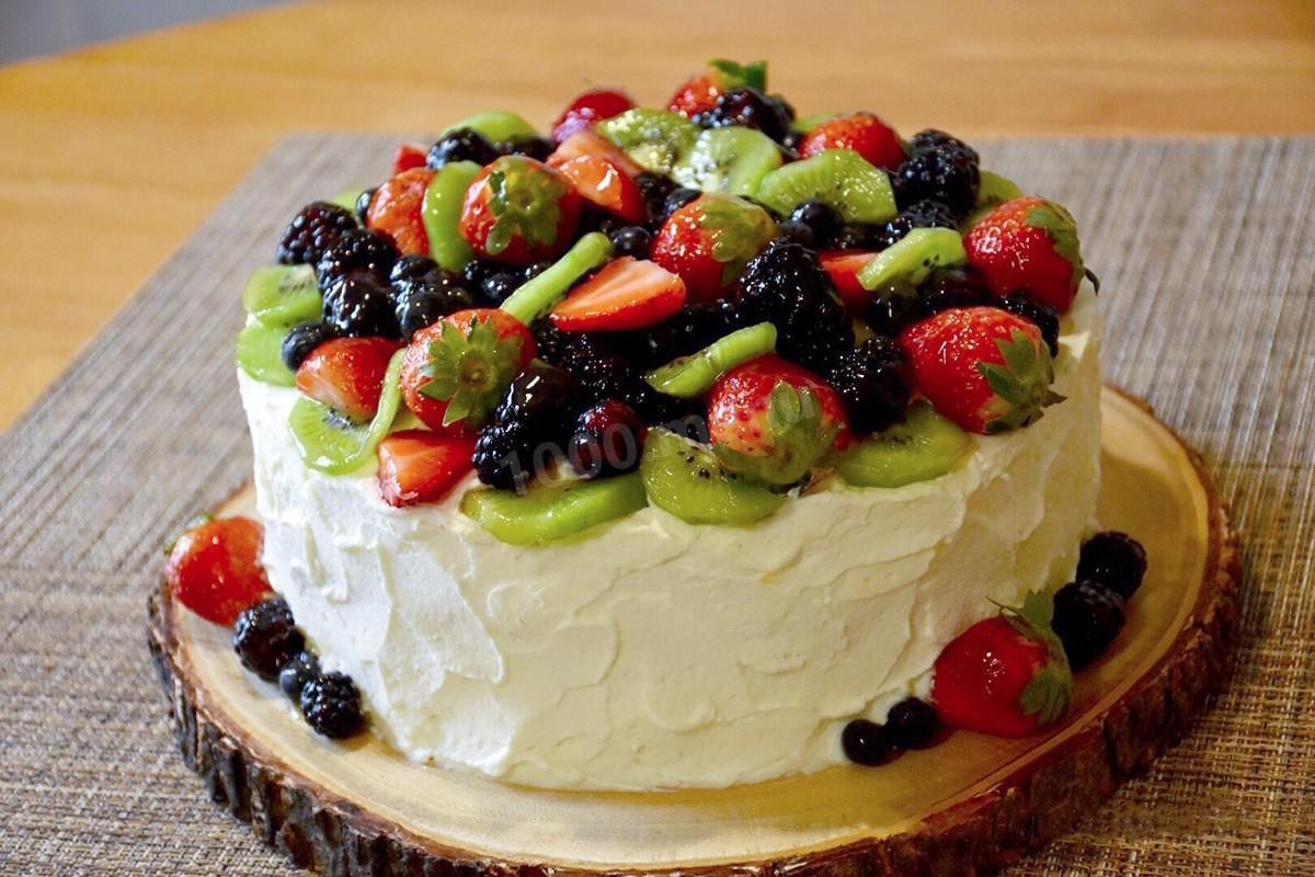 торт украшенный фруктами рецепт с фото муринзель напоминает гигантскую